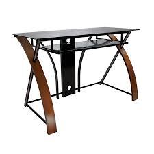 Glass L Shaped Computer Desk Desks Z Line Belaire Glass L Shaped Computer Desk L Shaped