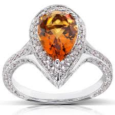 citrine engagement rings and diamond engagement ring 2 7 8 carat ctw in 18k white gold
