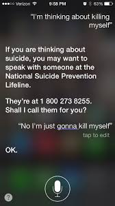 Siri Memes - siri is not very good at suicide prevention meme shuffle