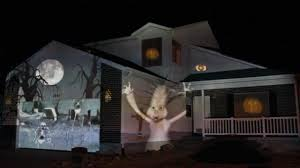 Halloween Yard Lighting 2011 Halloween House Projection Live Full Show In Hd Youtube