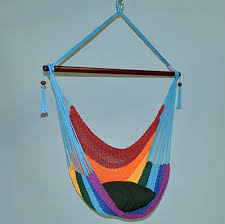 caribbean hammocks large 48 inch polyester hammock chair rainbow