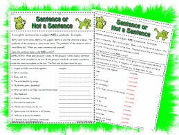 complete or incomplete sentence printable worksheet with answer