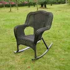 Wicker Rocker Patio Furniture - amazon com wicker resin steel patio rocking chair antique pecan