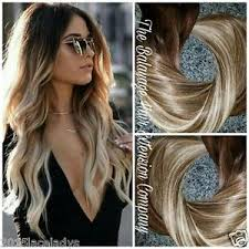 balayage hair extensions 7a european remy clip in human hair extensions ombre balayage wavy