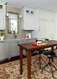backsplash tile pattern with antiqued mirror kitchen traditional