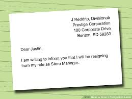how to write a resignation letter with sample wikihow