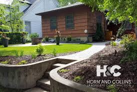 Elevated Front Yard Landscaping - landscaping edmonton sherwood park st albert horn and