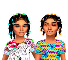 sims 4 kids hair ebonix sincerelyasimmer twisted pigtails child version