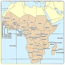 africa map states map showing the countries of sub africa map source www