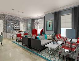 red accent wall living room design ideas for house family gray and