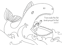 jonah whale colouring pages coloring story killer