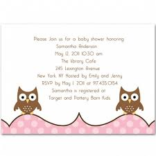 owl pink theme baby shower invites bs214