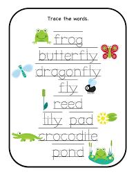 preschool printables down by the pond printable many trace the