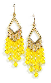 chandelier earrings yellow chandelier earrings