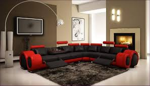 furniture magnificent u shaped sectional sofa brown leather and