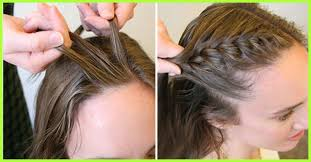 how to i french plait my own side hair how to do a side french braid