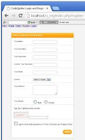 codeigniter tutorial registration form build a full featured login and registration system with codeigniter