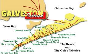 galveston island map galveston map places to visit galveston
