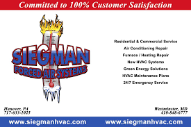 Modern Comfort Westminster Md Siegman Forced Air Systems Heating U0026 Air Conditioning Hvac