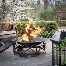 Outdoor Table With Firepit by Fire Sense 30 In Portsmouth Weathered Bronze Fire Pit With Free
