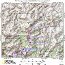 Squaw Trail Map Chesler Park Und Joint Canyon Canyonlands Np Needles District