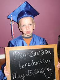 pre k cap and gown his preschool graduation picture in my cap and gown motherhood