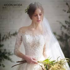 simple wedding dresses for brides half sleeve muslim lace wedding dress high quality 2017