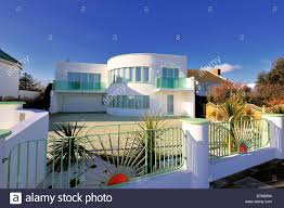 Art Deco Style Art Deco Style House At Frinton On Sea Essex Uk Stock Photo