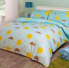 Childrens Duvet Cover Sets Uk Novelux Kids Duvet Cover Set Sunshine Lollipops U0026amp Rainbows