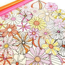 flower designs coloring book by jenean morrison color