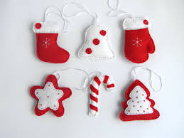 felt christmas tree decorations to make home decorating