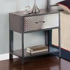 Metal Nightstands With Drawers Gorgeous Metal Nightstands With Drawers Powell Metal