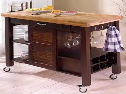 kitchen block island impressive kitchen butcher block island on wheels with louvered