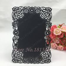 Diy Wedding Menu Cards 30pcs New Diy Menu Cards Laser Cut Flower Design Handmade Banquet