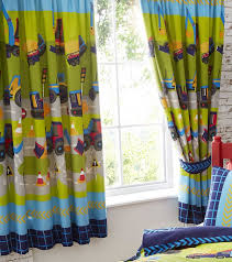 diggers tractor bull dozer kids boy children u0027s lined curtains set
