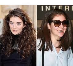 same haircut straight and curly lorde s haircut shows off shorter straight hair better than