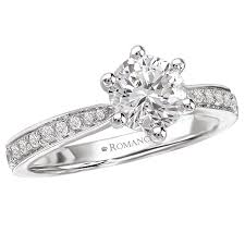 6 prong engagement ring 18kt 37ctw setting for 1ct