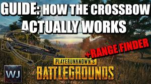 pubg 4x guide guide how the crossbow actually works range finder in