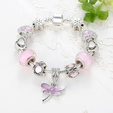 pandora sterling bracelet images Pandora sterling silver dragonfly crystal charm bracelet carleighs jpg