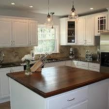 Oak Kitchen Cabinets Painted White Black Walnut Kitchen Countertops Design Ideas