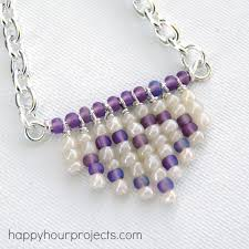 make seed bead necklace images Fringe heart seed bead necklace happy hour projects jpg