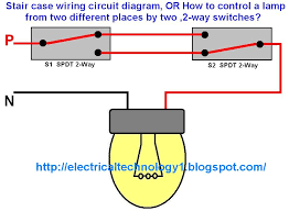 staircase wiring circuit diagram electrical technolgy and one