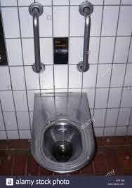 Toilet Stainless Steel Stainless Steel Toilet Bowl Handles Tiles Tiled Walls Lavatory