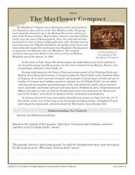 thanksgiving worksheet the mayflower compact