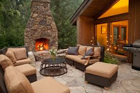 backyard patio ideas with fireplace for your reference