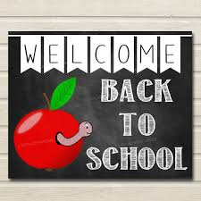 Welcome Back Decorations by Welcome Back To Sign Classroom Decor Apple