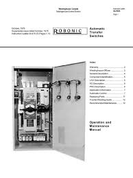 old robonic 1979 operating manual relay switch
