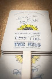 diy fan wedding programs kits wedding program fan sunflower order of service fan wedding