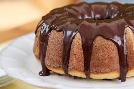 lemon bundt cake with chocolate glaze and candied lemon lemon