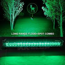 best green light for hog hunting amazon com green 20 inch hunting fishing led light bar spot